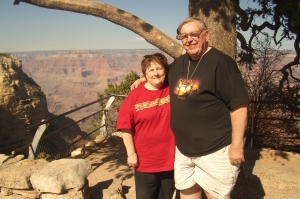 Frank and I are at the Grand Canyon in this photo taken in 2008.